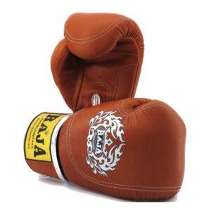 Guantes Raja Boxing Premiun Piel Marrón