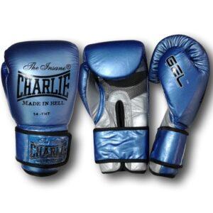 Guantes Gel Metallic Azules de Charlie