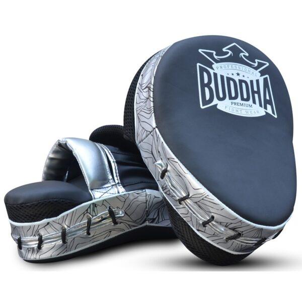 Manoplas Curvadas Buddha Premiun Negro/Plata